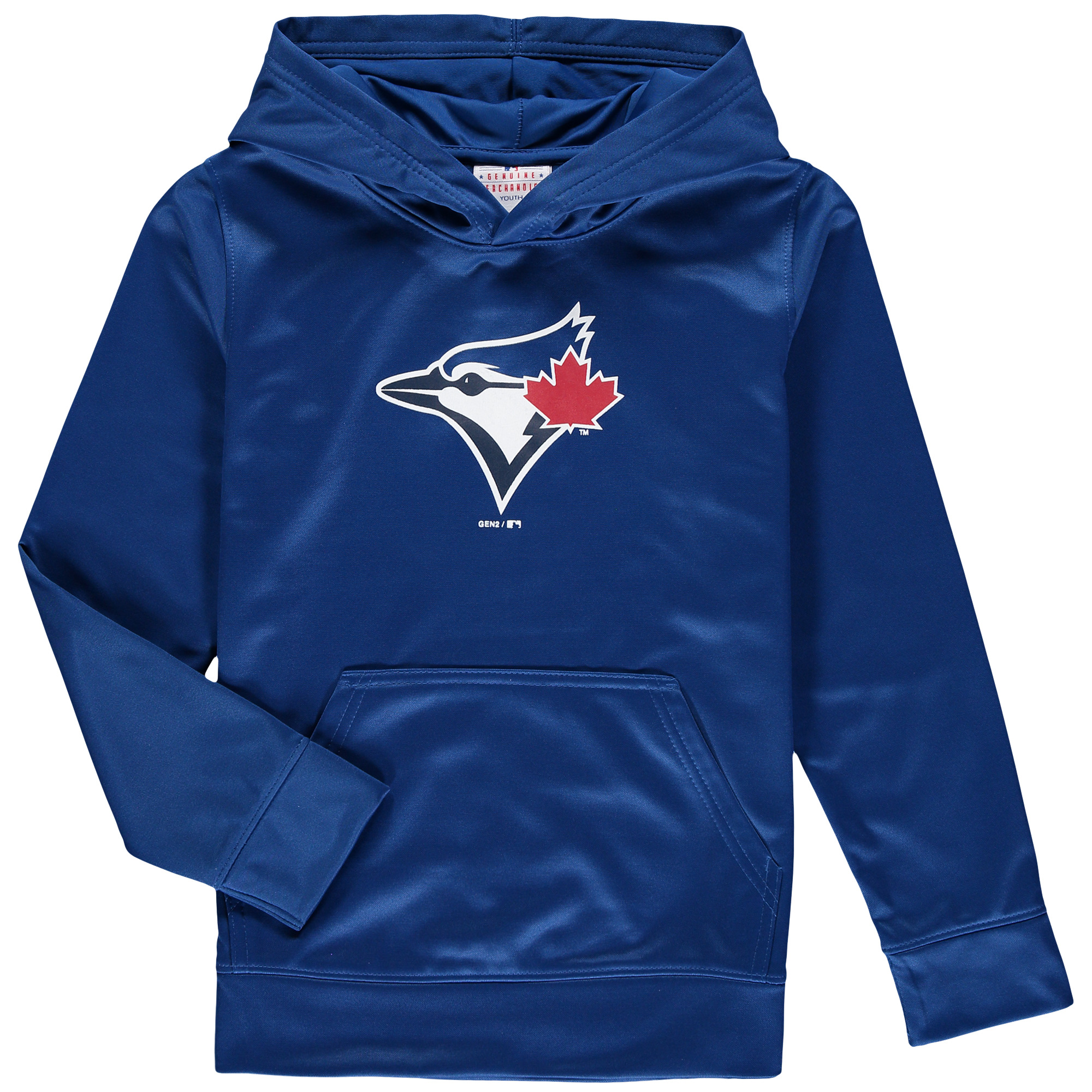 Toronto Blue Jays Youth Team Logo Fleece Pullover Hoodie - Royal