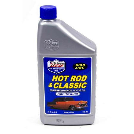 Lucas oil hot rod and classic car 10w30 motor oil 1 qt p n for Motor oil for older cars