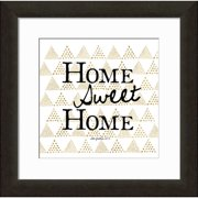 Carpentree Gold Letter 'Home Sweet Home' Framed Textual Art
