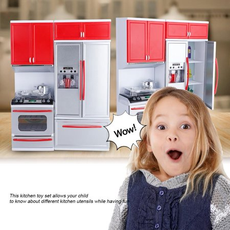 Walfront Mini Kitchen Pretend Role Play Toy Set Kids Girls Funny