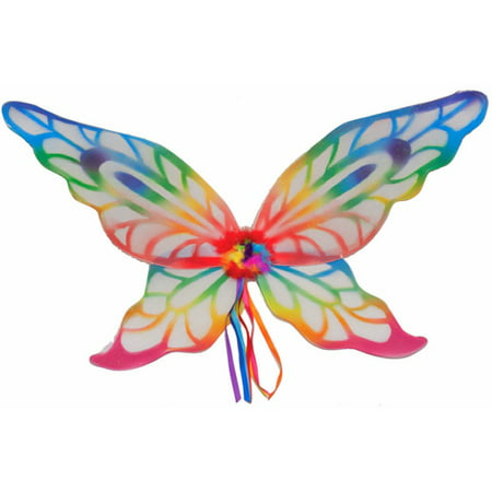 Adult Child Fairie Fairy Rainbow Wings Butterfly Costume Accessory - Rainbow Fairy Costumes