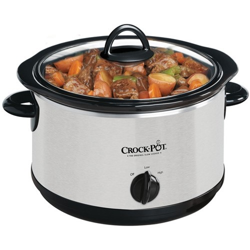 Crock-Pot 4-Quart Round Slow Cooker, Silver by JARDEN CONSUMER SOLUTIONS