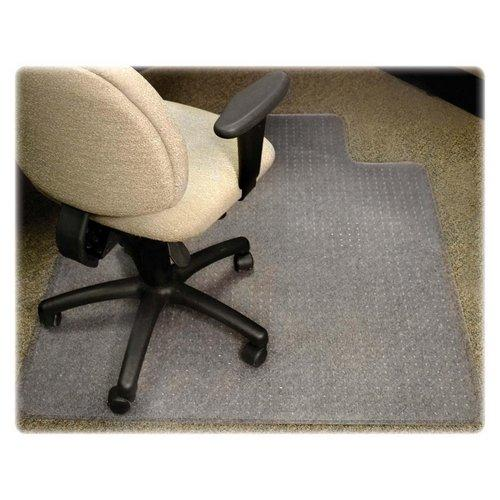 "Lorell Diamond Anti-static Chair Mat - 48"" Length X 36"" Width X 0.12"" Thickness Overall - 12"" Length X 20"" Width Lip - Clear (LLR25750)"