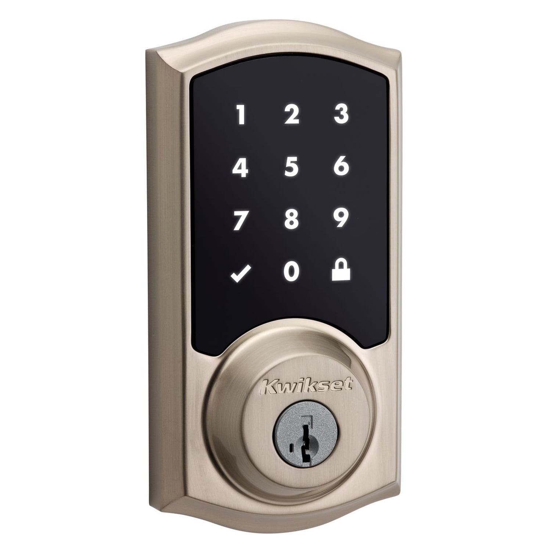 Kwikset 99160-002 Satin Nickel Smartcode Touchscreen Electronic Deadbolt With ZigBee Technology