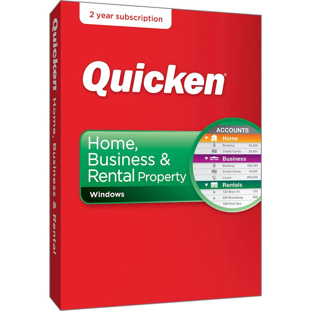 Quicken Home, Business & Rental Property 2018