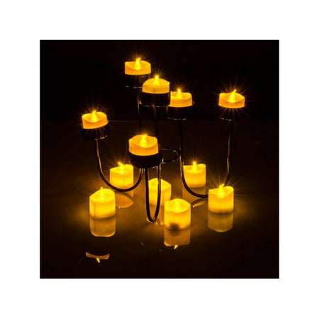 Tea Light Candles Yellow, AGPtek 6 PCS LED Flameless Battery Operated Tea light Tealight Candles with Batteries