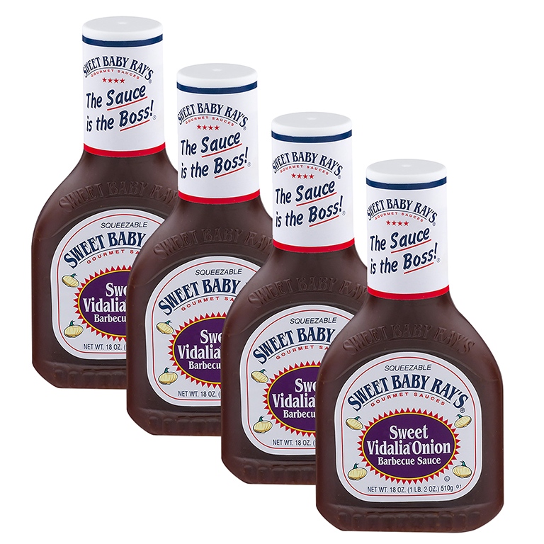 Sweet Baby Ray's Sweet Vidalia Onion Barbecue Sauce, 18.0 OZ (4 Pack)