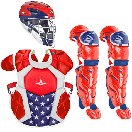All-Star System7 Axis USA NOCSAE Intermediate Baseball Catcher's Package - USA