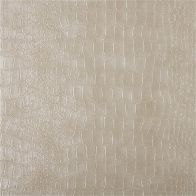 Designer Fabrics G392 54 in. Wide Cream, Alligator Upholstery Faux Leather