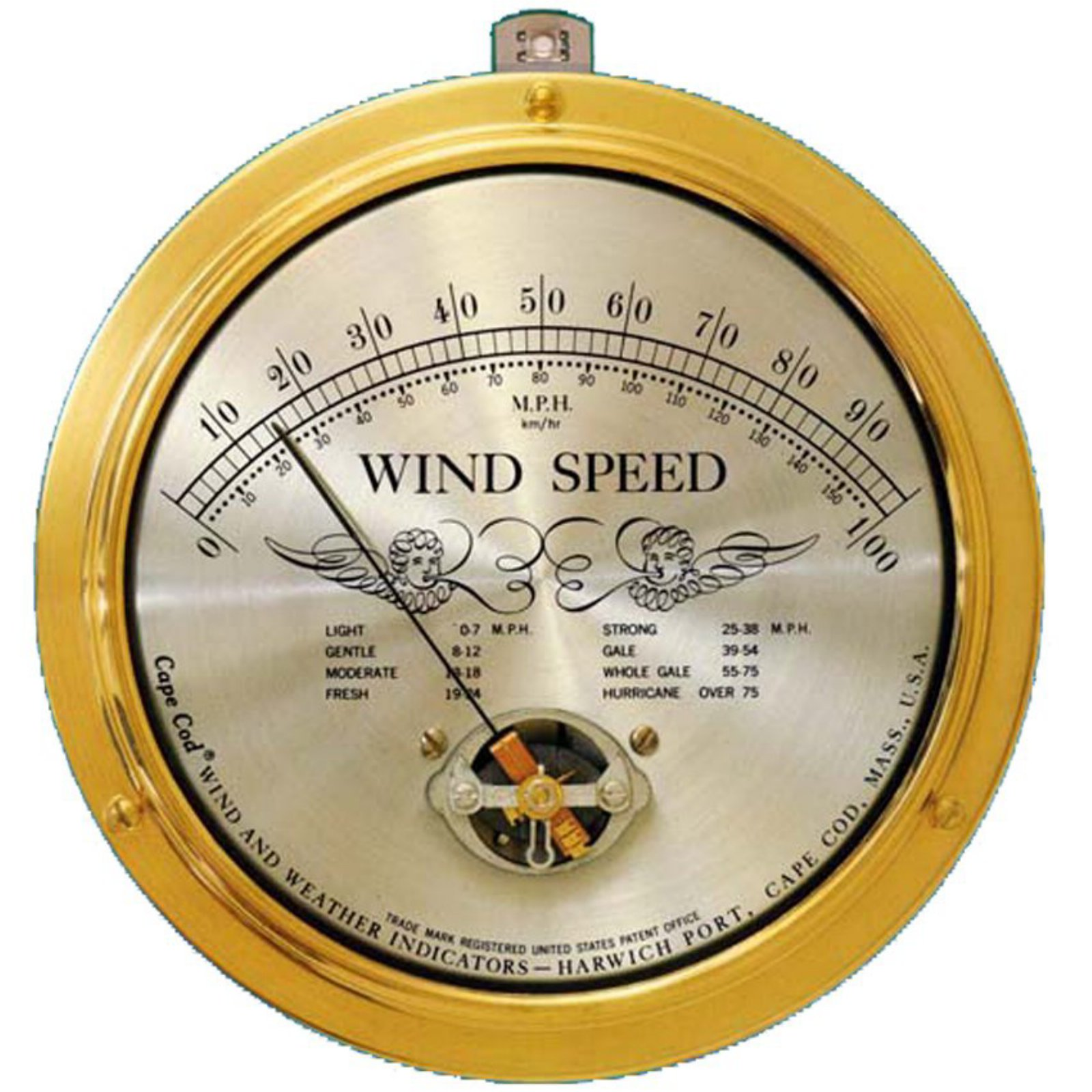 Cape Cod Wind Speed Indicator with Peak Gust Upgrade
