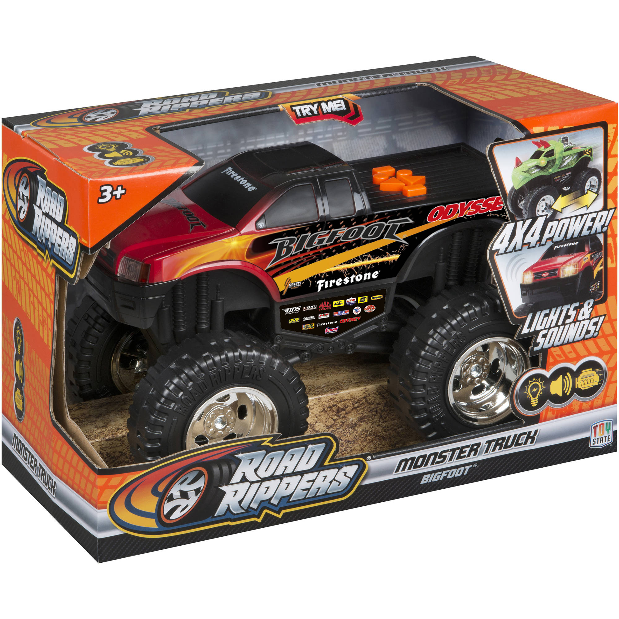 "Road Rippers 10"" Monster R/C Truck, Bigfoot"