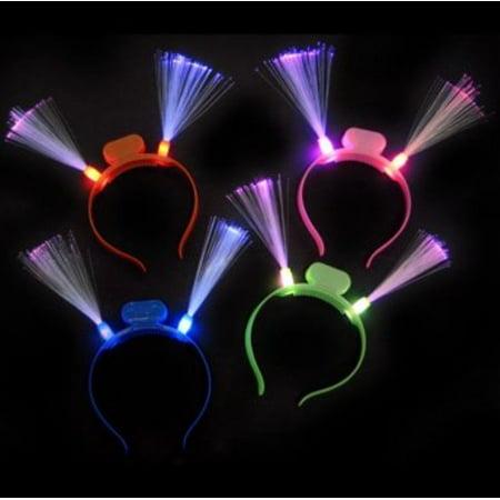 Led Blinking Lights - LWS LA Wholesale Store  12 Light Headband Fiber Optic LED Flashing Blinking Band EDC glow party birthday