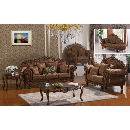 Swell 3Pcs Sofa Set Made In Usa Living Room Furniture Cherry Finish Traditional Sofa Loveseat Chair Formal Plush Cushioned Seating Armrest Lamtechconsult Wood Chair Design Ideas Lamtechconsultcom