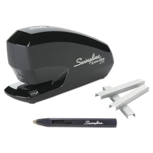 Swingline Speed Pro 25 Electric Stapler Value Pack, Full Strip, 25-Sheet Capacity, Black -SWI42140