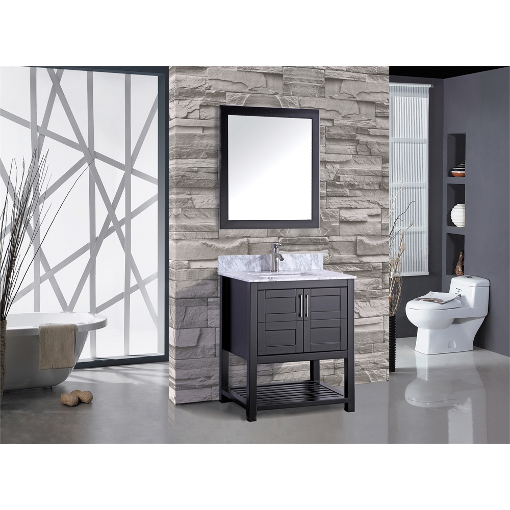 "Norway 24"" Single Sink Bathroom Vanity Set, Espresso"
