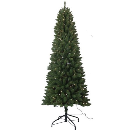 Santa's Workshop 7.5' Green Pine Artificial Christmas Tree with 350 Clear/White Lights Santas Workshop Christmas Tree