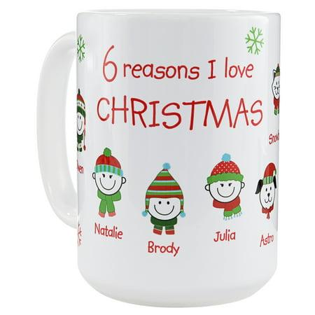 Personalized Reasons I Love Christmas Mug - Personalized Christmas Mugs