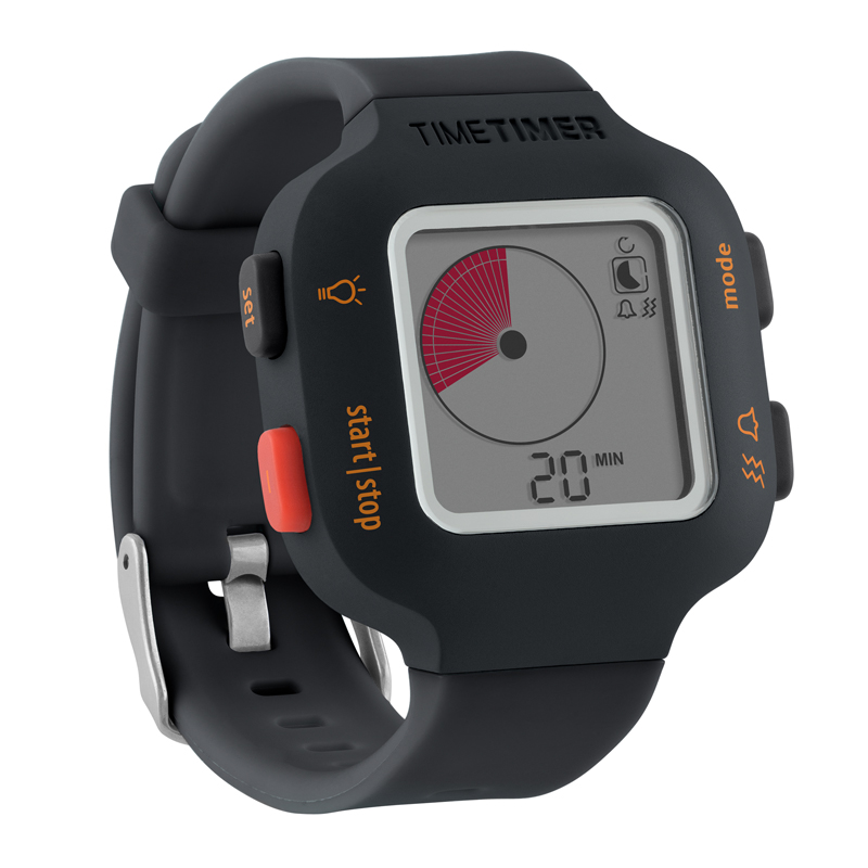 The Time Timer Watch PLUS, Small, Charcoal