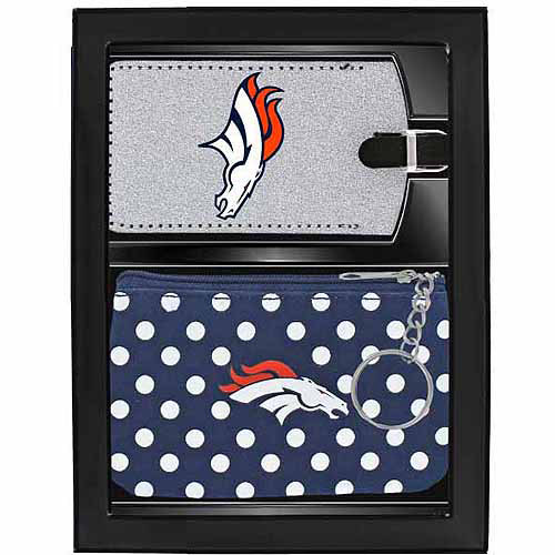 Aminco Women's Sports 2-Piece Travel Set, Broncos