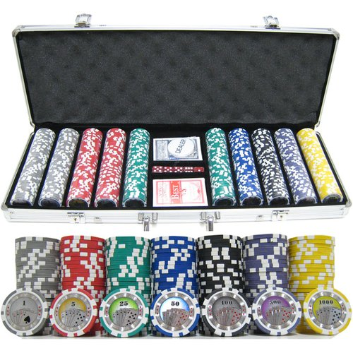 JP Commerce 500 Piece Casino Royale Clay Poker Chip Set