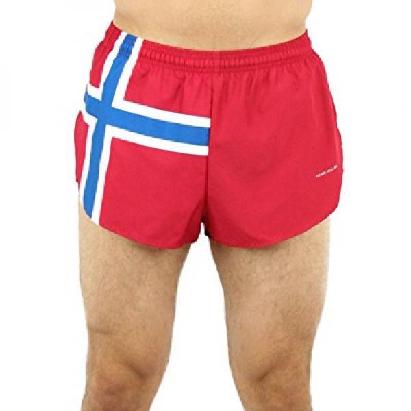 BOA Men's 1 Elite Split Leg Print Norwegian Flag Running ...