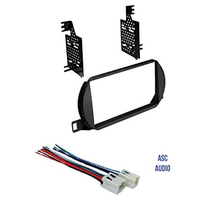 ASC Car Stereo Dash Install Kit and Wire Harness for Installing a Double Din Radio for 2002 2003 2004 Nissan Altima ()