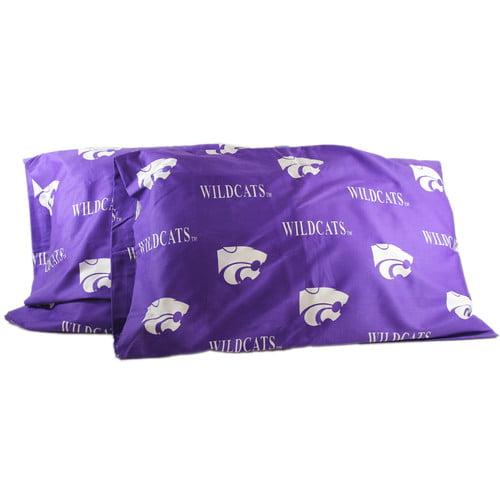 NCAA Kansas State Wildcats Pillowcases Two-Pack Purple Set