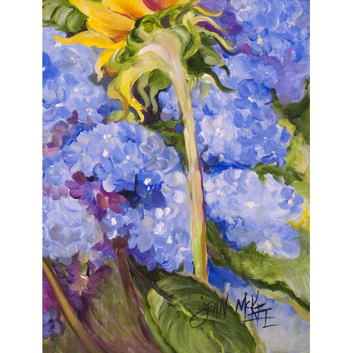 Hydrangea and Sunflower Flag Garden Size JMK1174GF