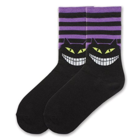 Mushroom Socks (K. Bell Womens Cotton Blend Novelty Crew Socks, KBWF15H001-01, 9-11, Creepy Cat)