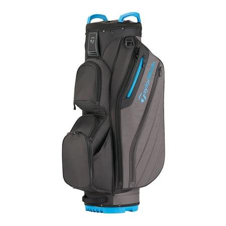 TaylorMade Golf Cart Lite Bag, Black/Gray/Blue