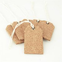 Natural Cork Tags, 2-1/4-inch, 6-Piece