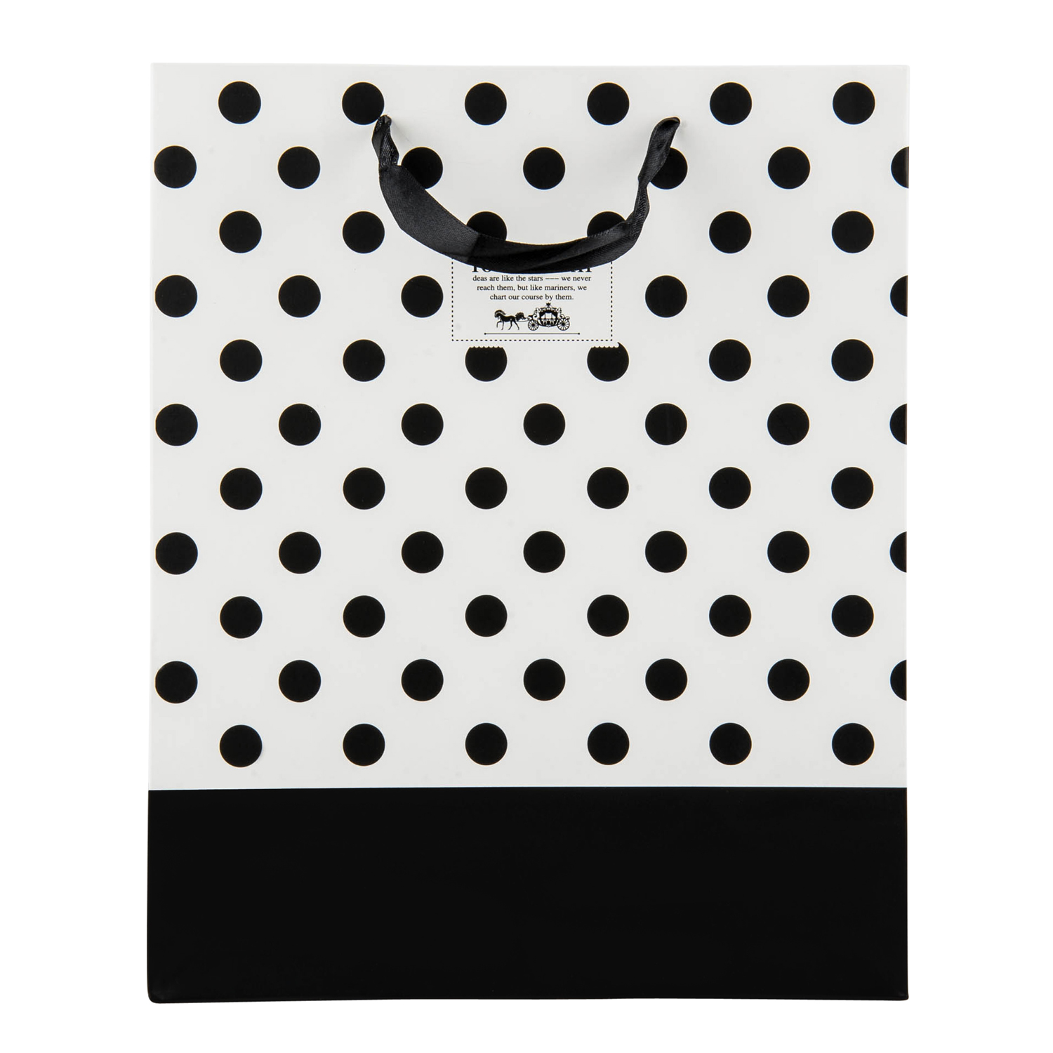 Premium Reusable Chic Black And White Paper Gift Bag With
