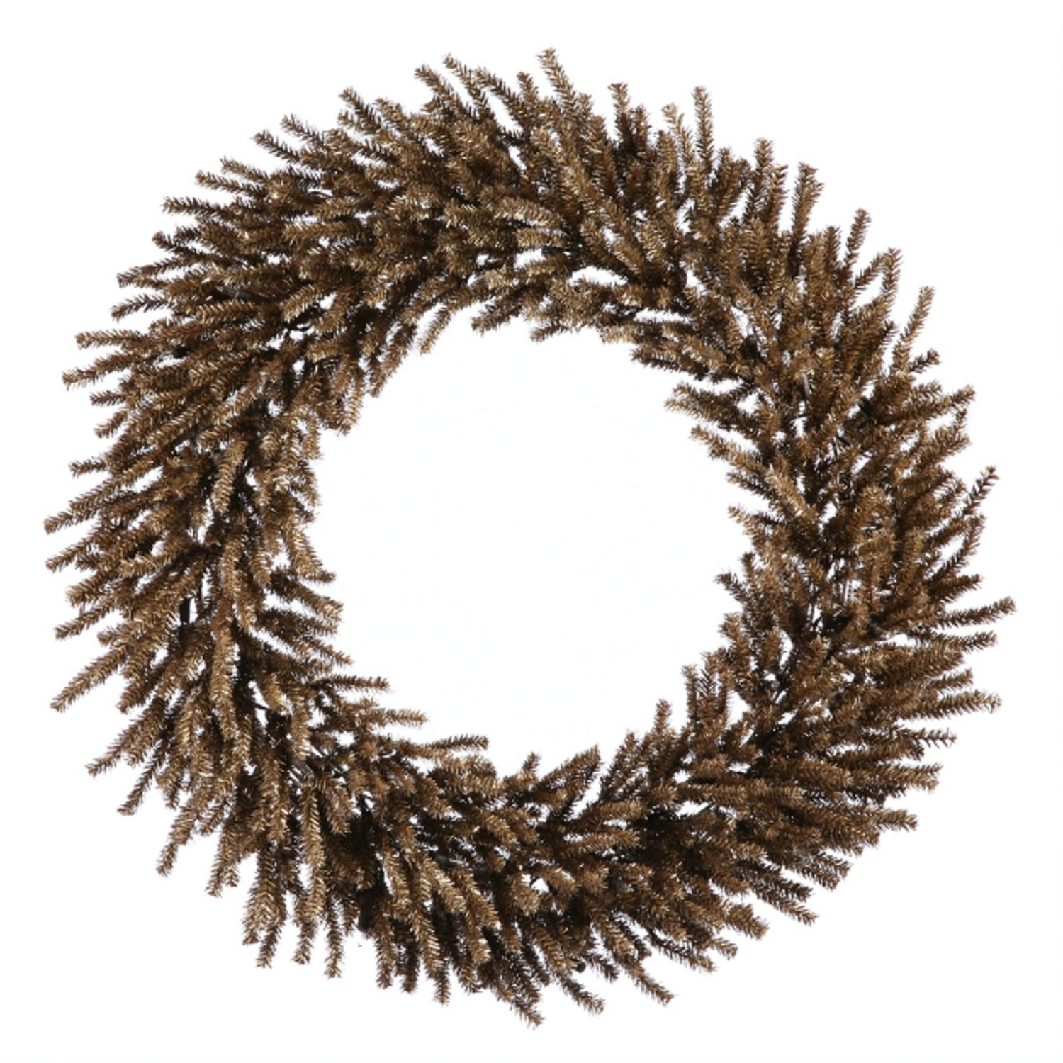 "Vickerman 30"" Unlit Sparkling Chocolate Brown Artificial Christmas Wreath"