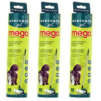 Evercare Pet Mega Roller 50-Layer Refill, Pack of 3