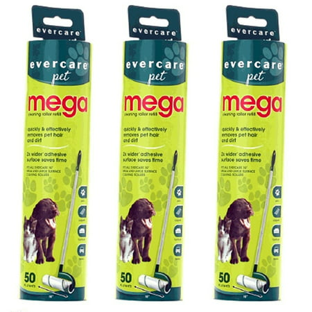 Pet Roller (Evercare Pet Mega Roller 50-Layer Refill, Pack of 3)