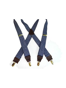 de3b13b3557 Product Image Hold-Ups Dark Blue Denim Casual Series Suspenders in X-back  with Patented No. Holdup Suspender Company Inc