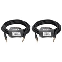 """(2) Peavey Pv 20' Ft. Instrument Guitar 1/4"""" to 1/4' Cables"""