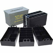 MTM AMMO CAN ORGANIZER 3 PLASTIC TRAYS BLACK