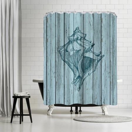 Americanflat Wood Shell 6 Shower Curtain