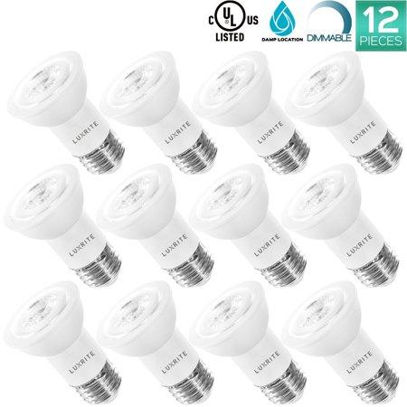 12 pack luxrite par 16 led spotlight bulb 8w 50w equivalent