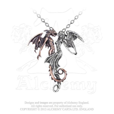 Wedding of Opposites Beauty and The Beast Dragon and Fairy Lovers Gothic (Artist Fairy Necklace)