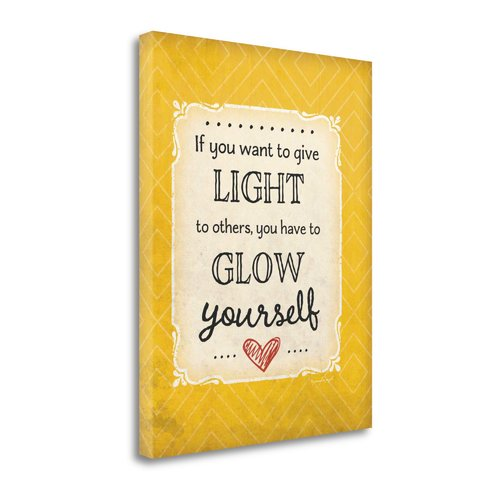 Tangletown Fine Art 'Give Light' Textual Art on Canvas