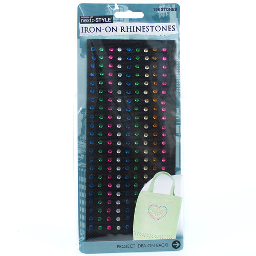 Next Style Iron-On Rhinestones, Rainbow