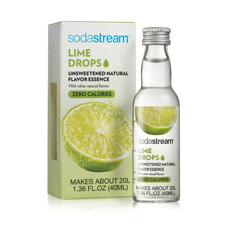 (3 Pack) SodaStream Lime Fruit Drops Natural Flavor Essence, 1.36 Fl Oz, 1 Count ()