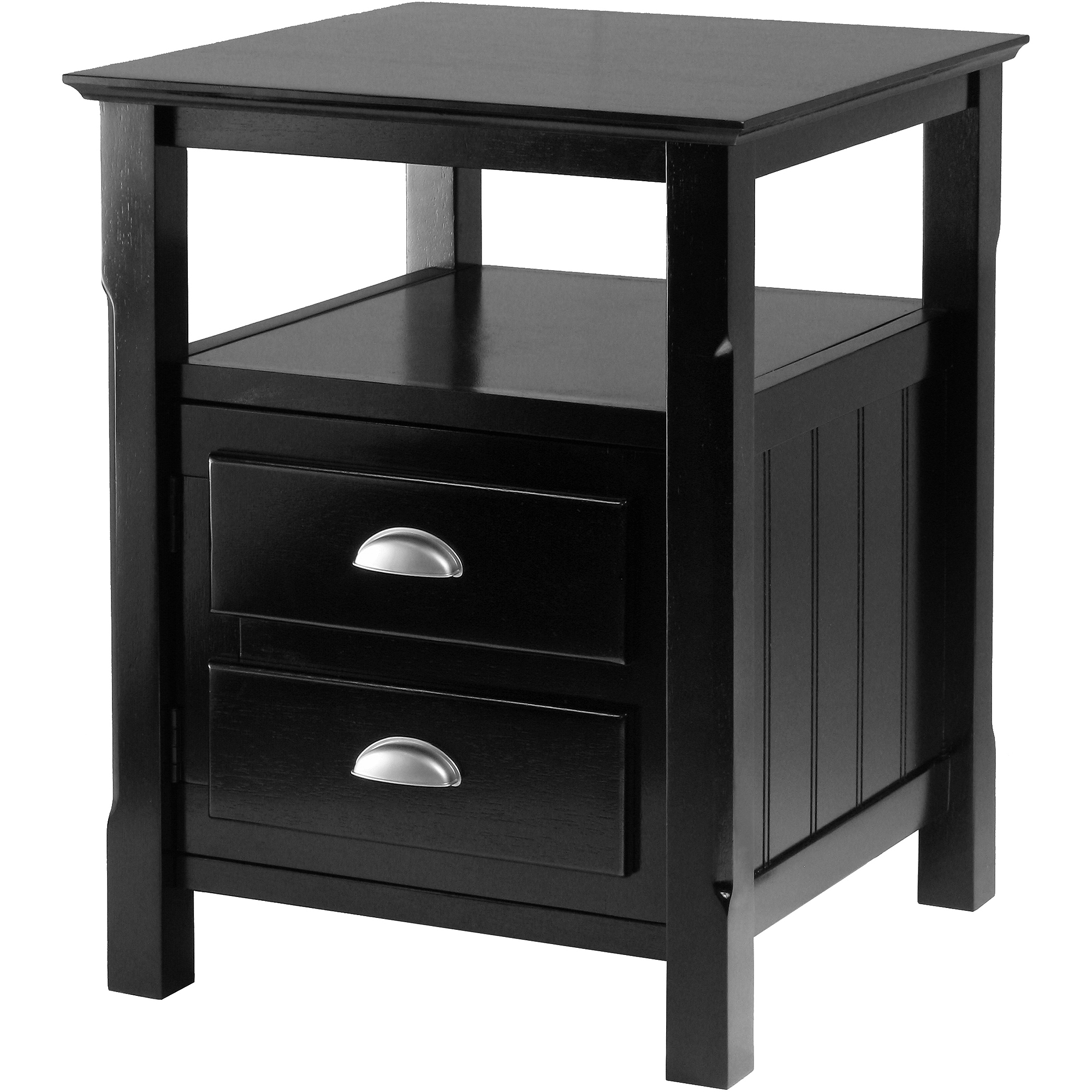 Timber Night Accent Table, Black