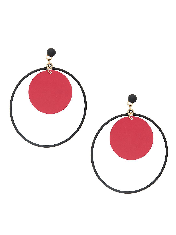 Orbital Disc Hoop Earrings