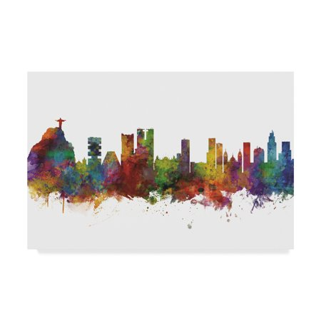 Trademark Fine Art 'Rio de Janeiro Skyline Brazil II' Canvas Art by Michael (Statue De Jesus A Rio De Janeiro)