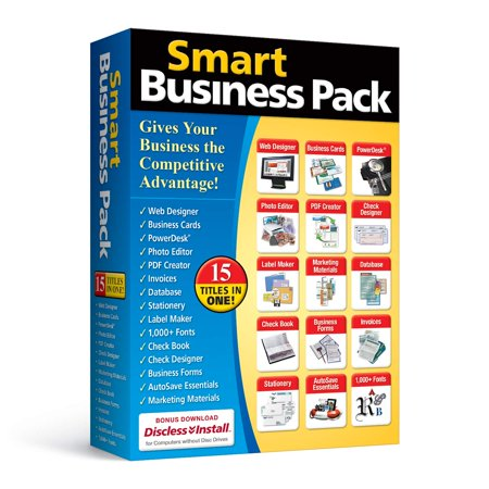 Smart Business Pack, 15 software titles essential for every business By Avanquest