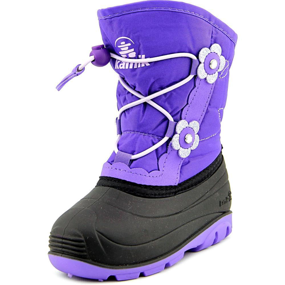 Kamik Blossom Toddler  Round Toe Canvas Purple Snow Boot