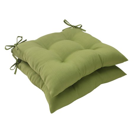 Pillow Perfect Outdoor/ Indoor Forsyth Green Wrought Iron Seat Cushion (Set of 2)